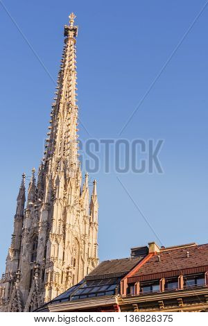 St. Stephen's Cathedral Tower gothic style architecture Vienna Austria