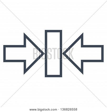 Pressure Horizontal vector icon. Style is outline icon symbol, smooth blue color, white background.