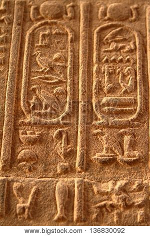 The Hieroglyphics and Temple Images in Egypt