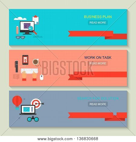 Website header design for web services: business plan work on task and search for solution