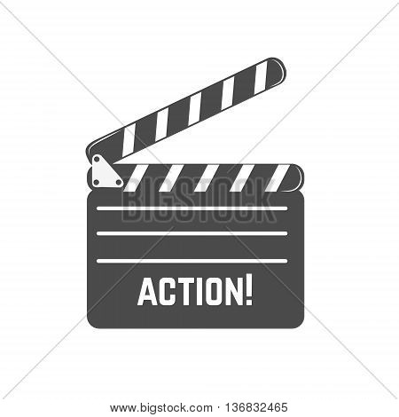 Clapperboard icon in vector. Design elements for logo label emblem sign.