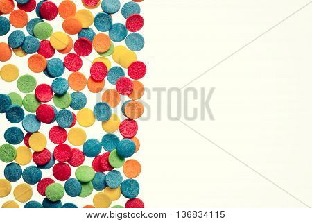 Background Of Different Color Eatable Sugar Pearls