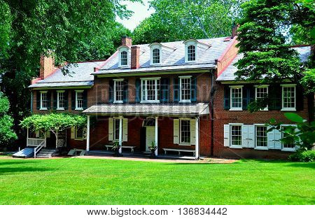 Lancaster Pennsylvania - June 8 2015: Federal-style historic Wheatland mansion home of James Buchanan. the 15th President of the United States *