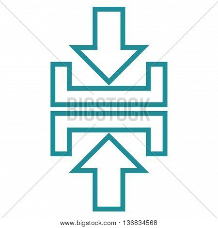 Pressure Arrows Vertical vector icon. Style is outline icon symbol, soft blue color, white background.
