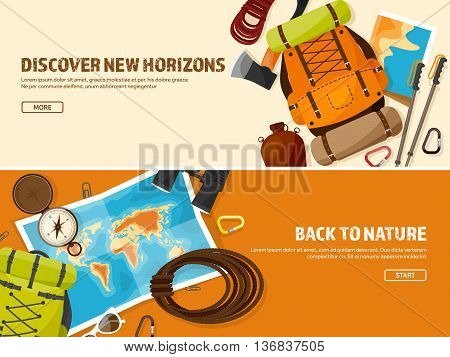 Travel, Hiking Background. Mountain Climbing.International Tourism, Trip to Nature, Around the World Journey.Summer Holidays, Camping.Exploring and Discovering Adventure, Worldwide Trekking Expedition.Map