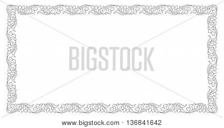 Decorative black rectangular frame with vignettes for cards