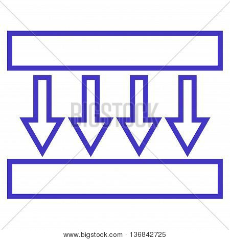 Pressure Vertical vector icon. Style is thin line icon symbol, violet color, white background.