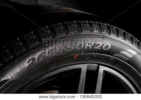 Car detailing series : Clean car tire sidewall