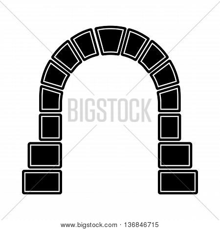 Entrance to railway tunnel icon in simple style isolated on white background