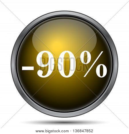 90 Percent Discount Icon