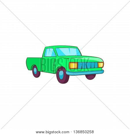 Pickup icon in cartoon style isolated on white background. Transport symbol