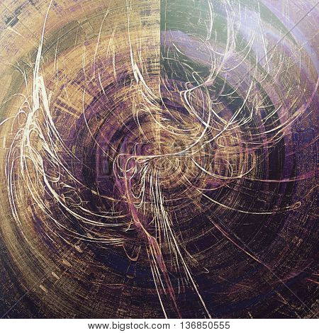 Spherical abstract faded retro background or shabby texture with vintage style design and different color patterns: yellow (beige); brown; gray; black; blue; purple (violet)