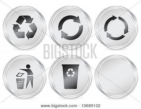 Recycle Symbols Circle Icon