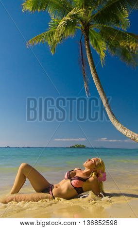 Deserved Relaxation Woman In Bikini