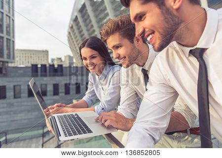 Business People With Gadget