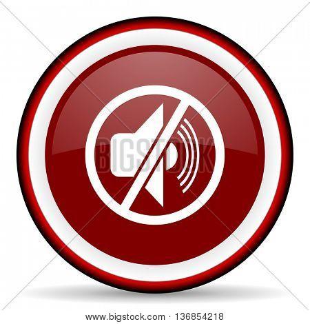 mute round glossy icon, modern design web element