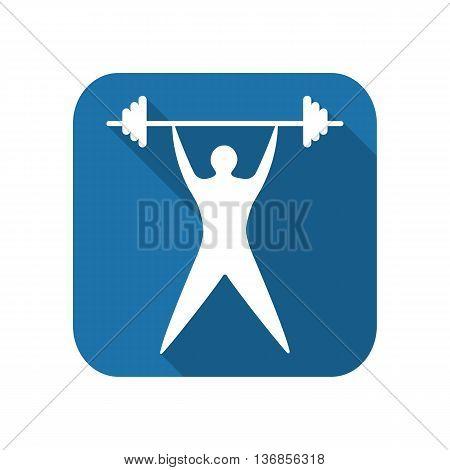 Young man athlete raises the bar. silhouette of sportsmen flat. vector illustration