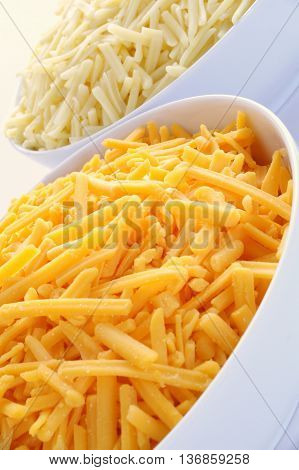 Cheese Grated Cheddar And Red Leicester Cheese
