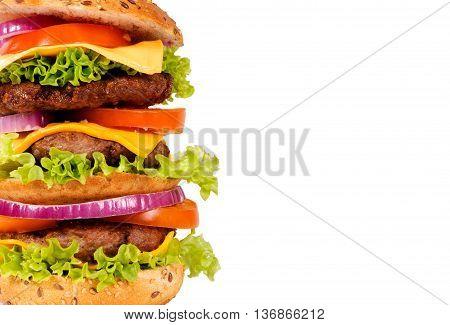 Triple Hamburger Half
