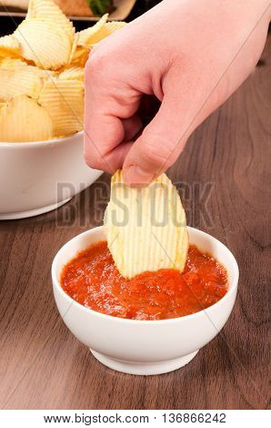 Hand And Chips