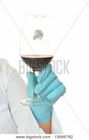 Fingerprint On Wine Glass