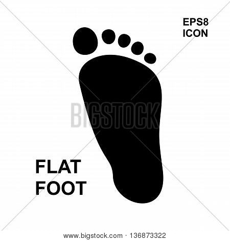 Flat Foot Icon
