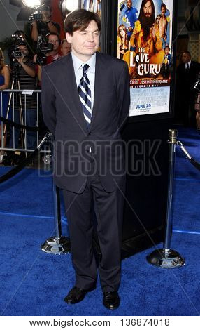 Mike Myers at the Los Angeles premiere of 'The Love Guru' held at the Grauman's Chinese Theater in Hollywood, USA on June 11, 2008.