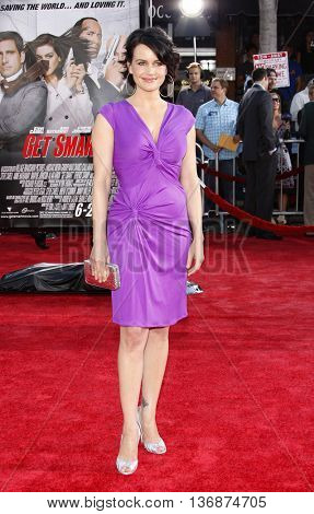 Carla Gugino at the World premiere of 'Get Smart' held at the Mann Village Theater in Westwood, USA on June 16, 2008.