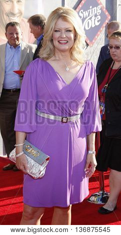 Mary Hart at the World premiere of 'Swing Vote' held at the El Capitan Theater in Hollywood, USA on July 24, 2008.
