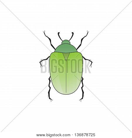 Chafer. Old school tattoo style. Isolated on white. Vector Graphics.