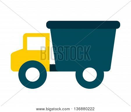Baby toy truck isolated icon design, vector illustration  graphic