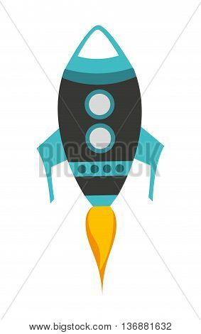 rocket launch isolated icon design, vector illustration  graphic
