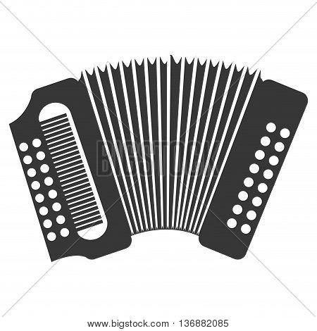 Accordion  music instrument icon design, vector illustration image.
