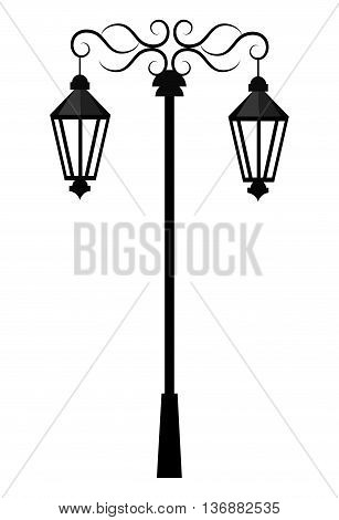 Street light or lamp icon, vector illustration graphic degin.