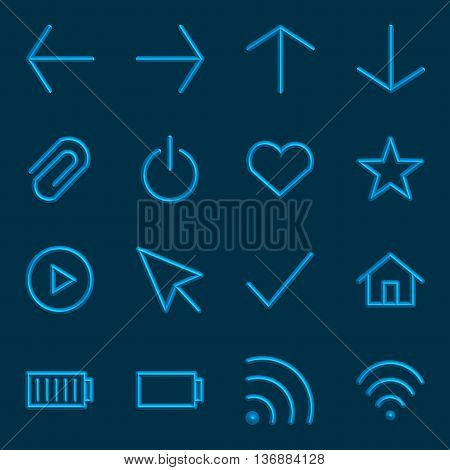 Volumetric Web Icon Collection, 3d sign Vector Illustration.