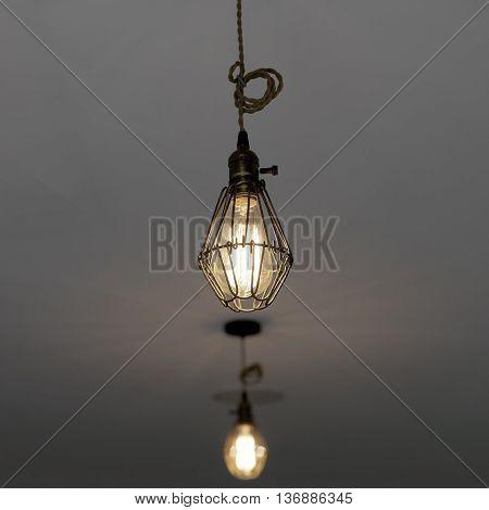 Hanging Lamp With Light Bulbs