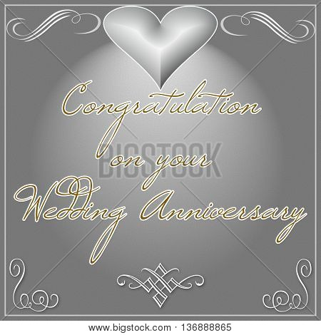 Congrats on you wedding Anniversary wishes card