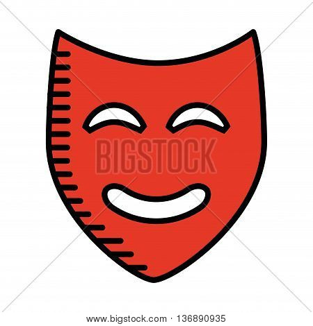 theater mask isolated icon design, vector illustration  graphic
