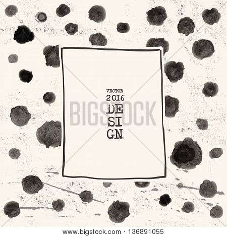 Grunge spot background. Abstract grunge decoration. Art ink grunge. Brush stroke grunge element. Grunge vector illustration.
