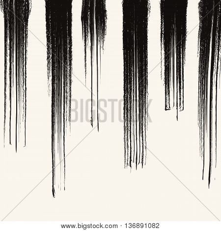 Grunge stripe background. Abstract grunge decoration. Art ink grunge. Brush stroke grunge element. Grunge vector illustration.