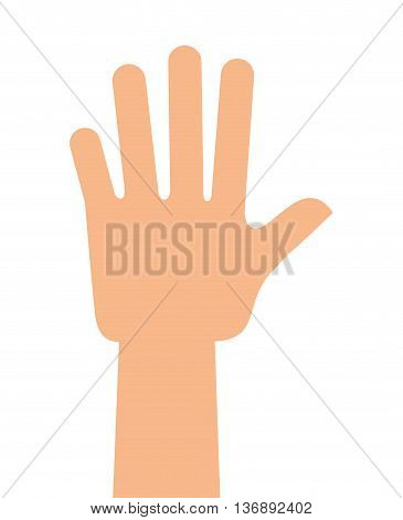 democratic hand  isolated icon design, vector illustration  graphic