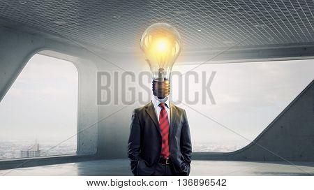 His head full of great ideas . Mixed media