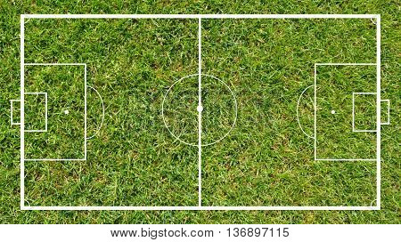 Soccer Field in the close-up as background