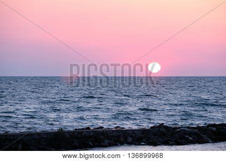 Sunrise at Lake Huron, MI, USA