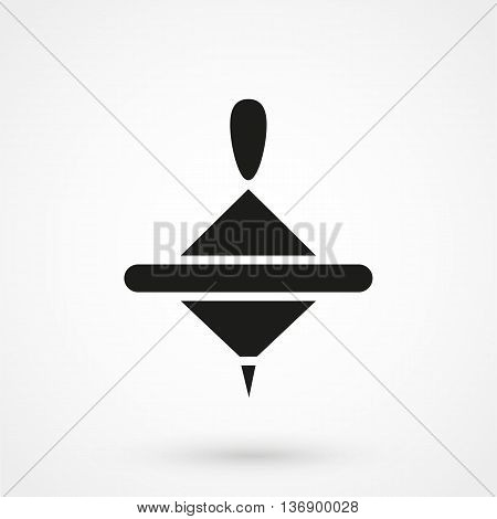 Whirligig Icon On White Background In Flat Style. Simple Vector Illustration