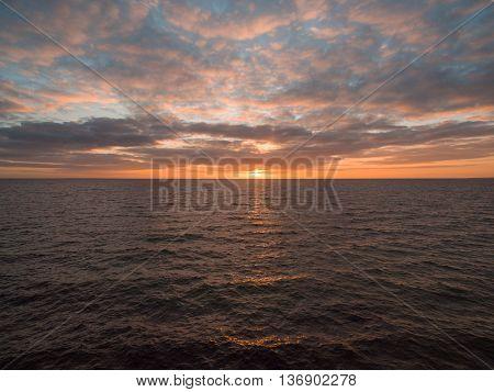 Orange Sunset Over Water