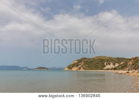 Gerakas Beach And Turtle Nesting Site  In Zakynthos, Greece