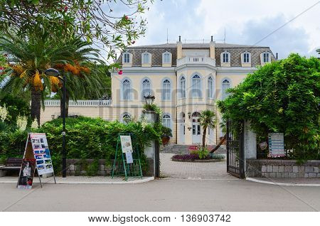 BAR MONTENEGRO - SEPTEMBER 24 2015: Palace of King Nikola (Topolica Palace) in Bar Montenegro