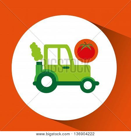 farm tractor isolated icon design, vector illustration  graphic