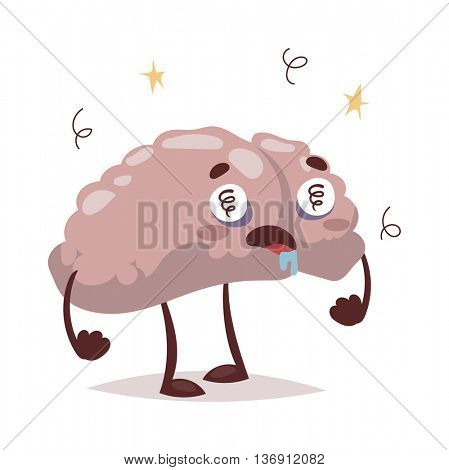 Bad brain and headache vector illustration.